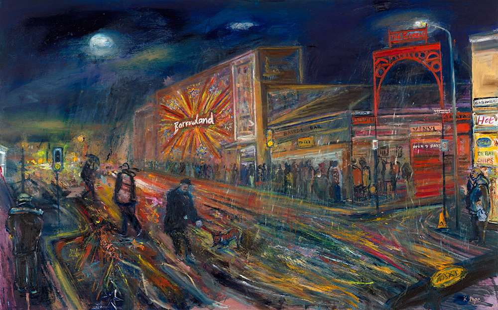 A painting of Barrowland Ballroom by Glasgow artist Katie Pope